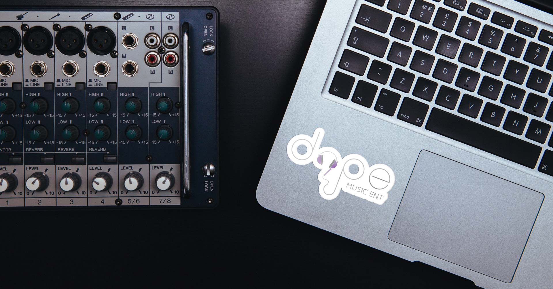 Dope Music Ent Sticker Concept